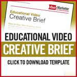 Download an Educational Video Creative Brief PDF Template