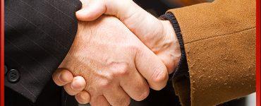 B2B Business to Business Handshake