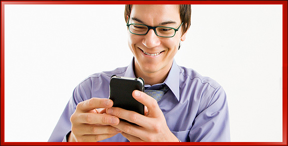 Guy with iPhone with Online Consumer Video