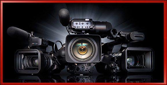 3 High End Sony ENG Electronic News Gathering Shoulder Mount Cameras