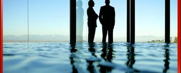 Business Men in Suits, Blue Tone Colors