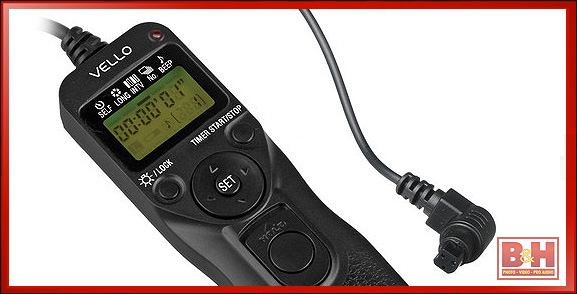 Vello ShutterBoss Timer Remote for Canon with 3-Pin Connection