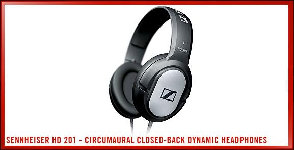 Sennheiser HD 201 - Circumaural Closed-Back Dynamic Stereo Headphones