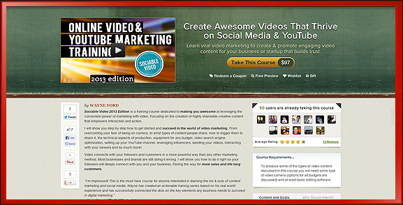 Online Video YouTube Marketing Training Course