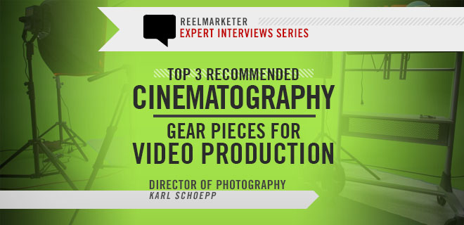 Top 3 Recommended Cinematography Gear for Video Production