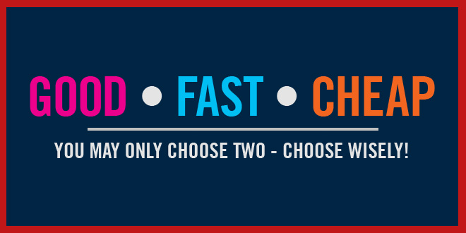 Good, Fast or Cheap