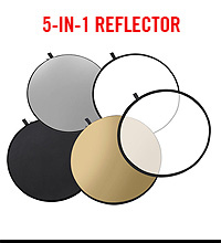 Raya 5-in-1 Collapsible Reflector Disc