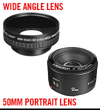 Wide Angle Threaded Lens, 50mm F1.8 Canon Prime Lens