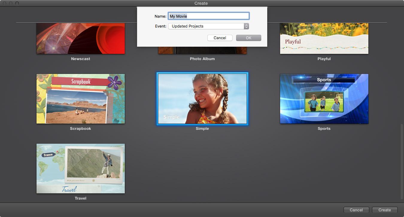 iMovie New Project